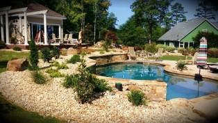 Picture of a Pool Area Designed and Created by All South Lawnscapes
