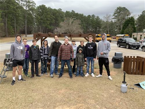 Former Hound Eagle Scout Helps School