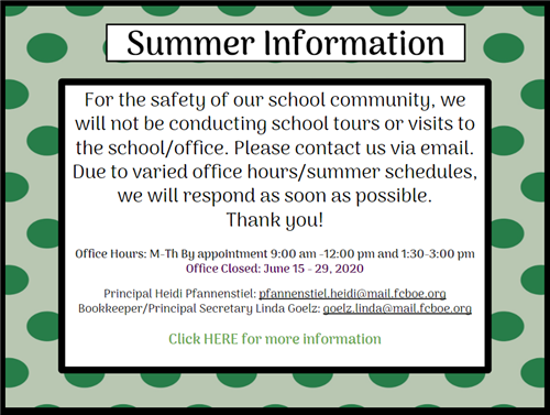 Summer Office Information