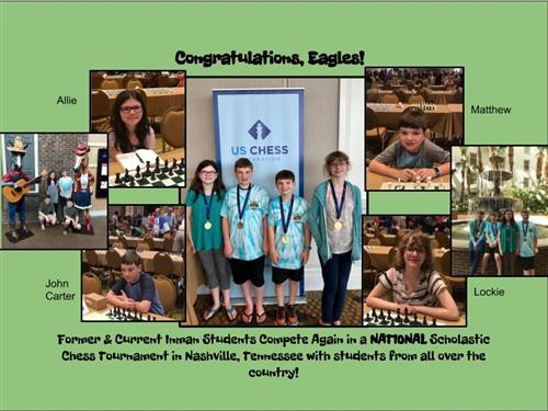 National Chess Tournament Players Make Inman Proud!