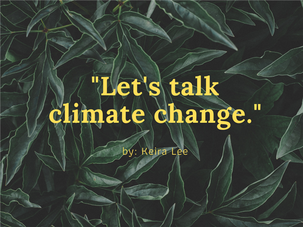 Let's Talk Climate Change