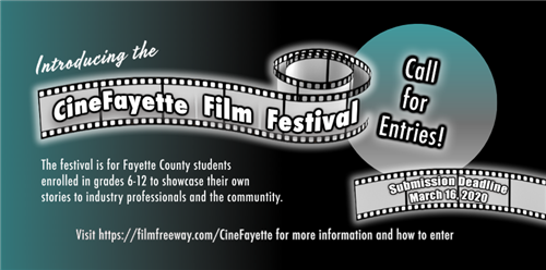 Create Your Own Story, Call for Entries for the CineFayette Film Festival