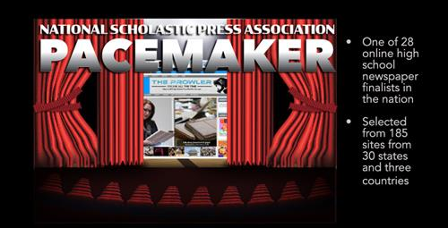 High School Newspaper Site is a Pacemaker Finalist