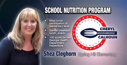 Elementary School Nutrition Manager Named Top in County