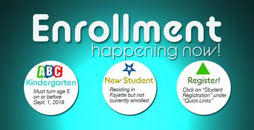 Kindergarten, New Student Enrollment Happening Now