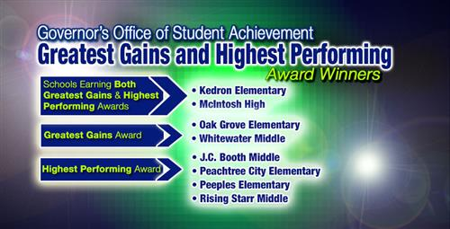 schools earn highest performing and great gains awards from