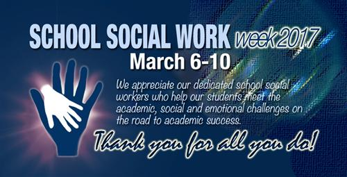 School System Shows Appreciation for School Social Workers