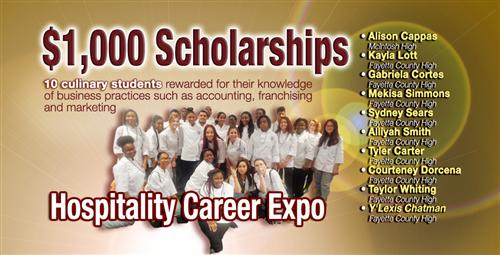 Culinary Students Win Scholarships at Hospitality Career Expo