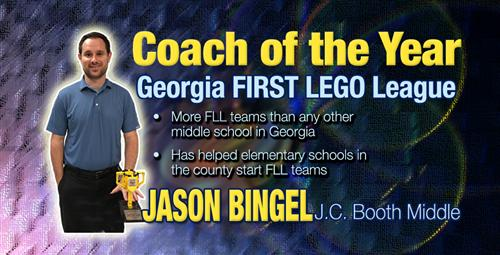Fayette County Teacher Wins State LEGO League Coach of the Year