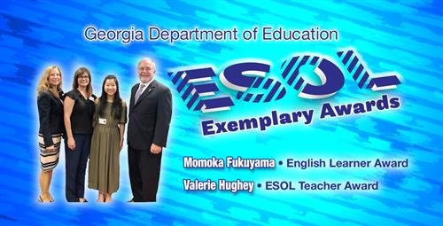 Starr's Mill High Student and Teacher Selected for State's ESOL Award