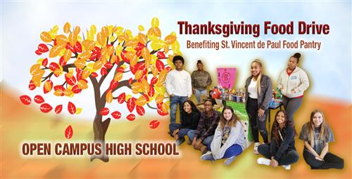 Open Campus Students Help with Thanksgiving Celebrations