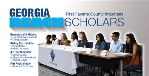 Signing Day for Fayette's First REACH Georgia Scholars