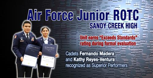 Air Force Junior ROTC Earns Highest Rating Cadets Recognized for Superior Performance