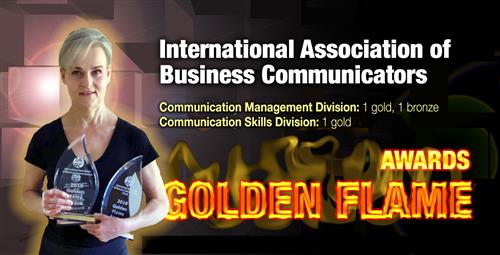 Public Relations Department Wins Three IABC Golden Flame Awards
