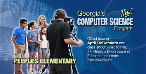 Peeples Elementary Teacher and Students Selected to Promote Georgia's New Computer Science Program