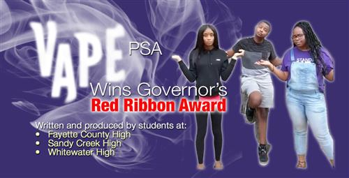 Vaping PSA Wins First Place in Governor's Red Ribbon Competition