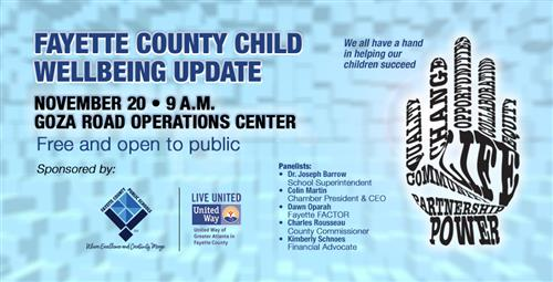 Child Wellbeing Update Presented by Fayette County Public Schools and United Way of Greater Atlanta