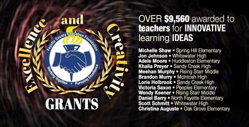 Foundation Awards Teachers With Excellence and Creativity Grants