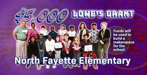 North Fayette Receives $5,000 Lowe's Grant