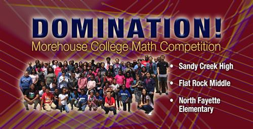 Fayette Takes Eight First Place Finishes at Morehouse Math Competition