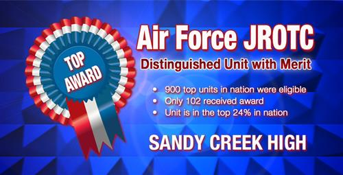 Air Force JROTC Earns Distinguished Unit Award