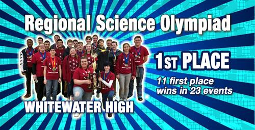 Whitewater High Takes First in Regional Science Olympiad