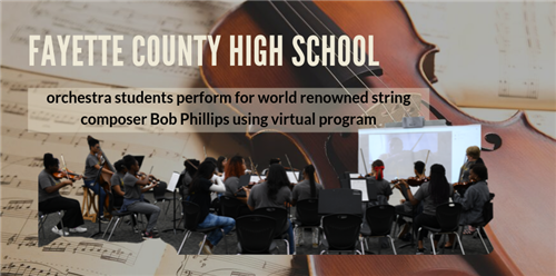 Orchestra Students Perform for World Renowned String Composer