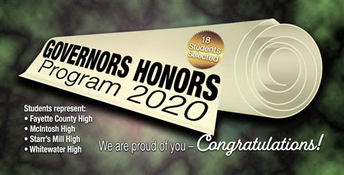 Governor's Honors Finalists Named