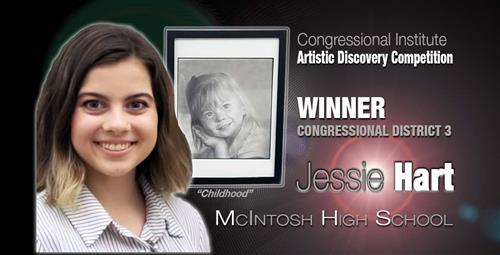 Student's Artwork Chosen for Display at U.S. Capitol