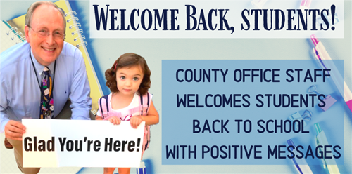 County Office Staff Welcomes Students Back to School