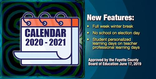 New Calendar Set for 2020-2021 School Year