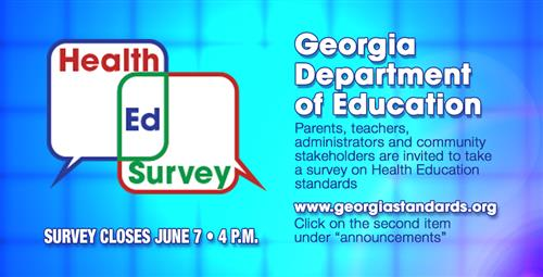 Survey for the Review of Health Education Georgia Performance Standards