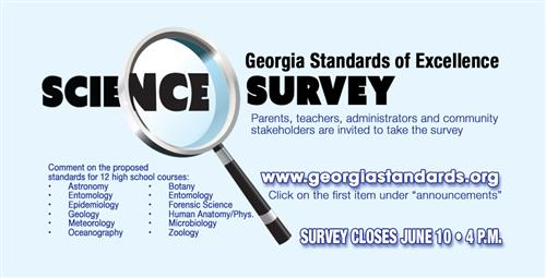 Survey for the Review of Georgia High School Science Performance Standards