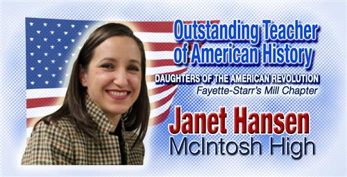 McIntosh High's Janet Hansen Named Outstanding Teacher of American History