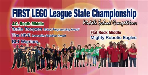Middle School Robotics Teams Compete at State Tournament