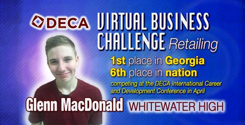 Whitewater High DECA Student Qualifies for Virtual Business Retail Finals