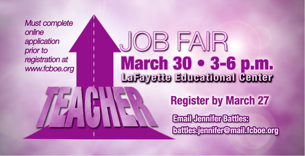 Fayette County School District to Hold Teacher Job Fair This Month