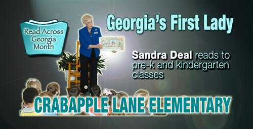 Georgia's First Lady Visits Crabapple Lane Elementary